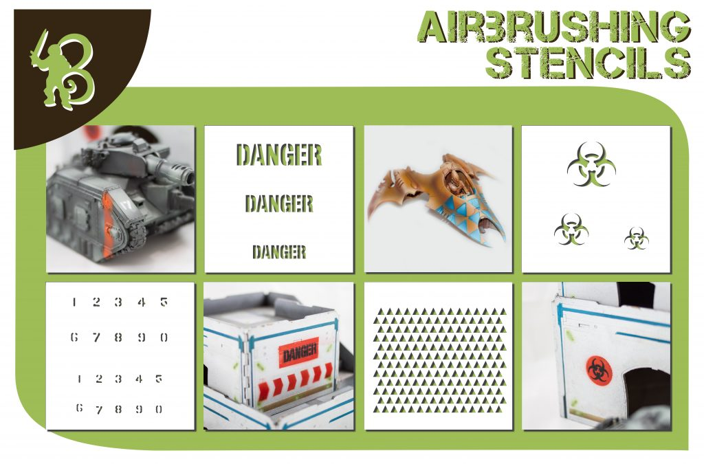 Bandua Wargames April Releases  Airbrush stencils and